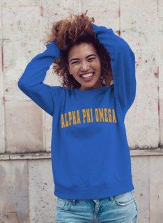 Alpha Phi Omega Letterman Crewneck Sweatshirt