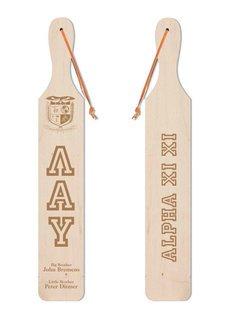 Lambda Alpha Upsilon Old School Wood Greek Paddle