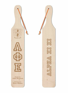 Lambda Phi Epsilon Old School Wood Greek Paddle