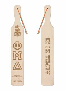 Phi Mu Delta Old School Wood Greek Paddle