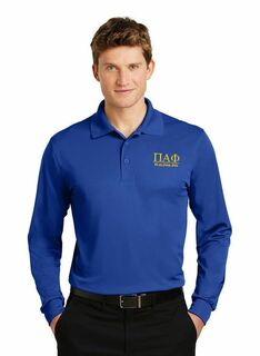 Pi Alpha Phi- $35 World Famous Long Sleeve Dry Fit Polo