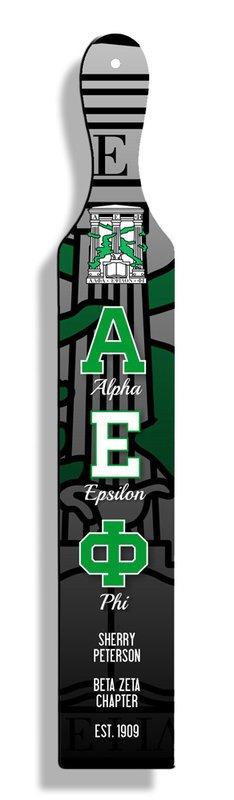 Alpha Epsilon Phi Custom Full Color Paddle