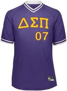Delta Sigma Pi Retro V-Neck Baseball Jersey
