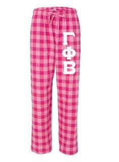 Gamma Phi Beta Pajamas -  Flannel Plaid Pant