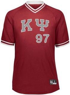 Kappa Psi Retro V-Neck Baseball Jersey