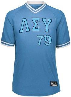 Lambda Sigma Upsilon Retro V-Neck Baseball Jersey