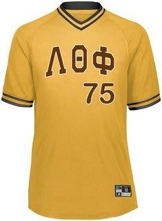 Lambda Theta Phi Retro V-Neck Baseball Jersey