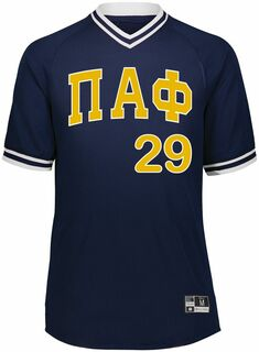 Pi Alpha Phi Retro V-Neck Baseball Jersey