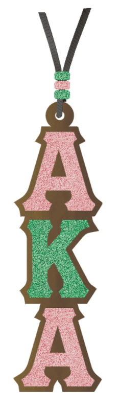Alpha Kappa Alpha Sparkle Medallion Tiki