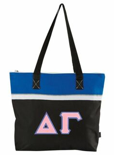 DISCOUNT- Delta Gamma Lettered Muse Totebag