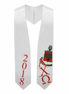 Alpha Chi Omega Super Crest - Shield Graduation Stole