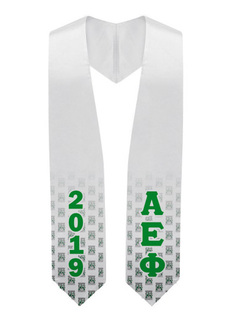 Alpha Epsilon Phi Mascot Graduation Stole