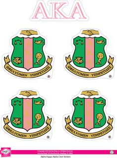 Alpha Kappa Alpha  Crest Sticker Sheet