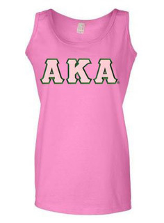 DISCOUNT-Alpha Kappa Alpha Lettered Ladies Tank Top