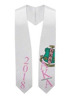 Alpha Kappa Alpha Super Crest - Shield Graduation Stole