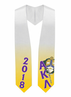 Alpha Kappa Lambda Super Crest - Shield Graduation Stole