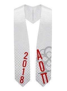 Alpha Omicron Pi Super Crest - Shield Graduation Stole
