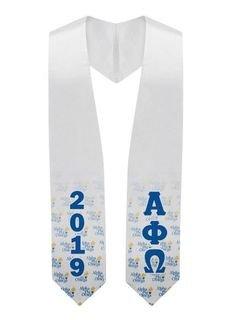 Alpha Phi Omega Mascot Graduation Stole