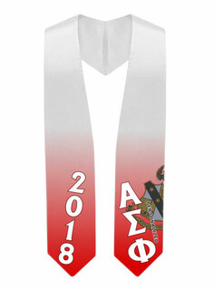 Alpha Sigma Phi Super Crest - Shield Graduation Stole