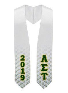 Alpha Sigma Tau Mascot Graduation Stole