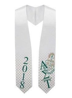 Alpha Sigma Tau Super Crest - Shield Graduation Stole