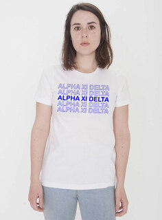 Alpha Xi Delta Thank You For Shopping Tee - Comfort Colors