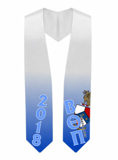 Beta Theta Pi Super Crest - Shield Graduation Stole
