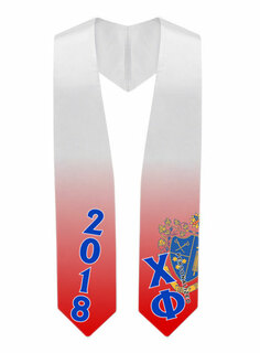 Chi Phi Super Crest - Shield Graduation Stole