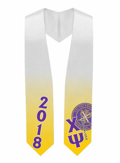 Chi Psi Super Crest - Shield Graduation Stole