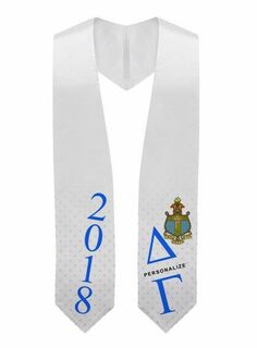 Delta Gamma Super Crest - Shield Graduation Stole