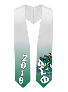 Delta Sigma Phi Super Crest - Shield Graduation Stole