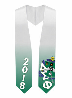 Delta Sigma Phi Super Crest - Shield Graduation Stole