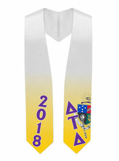 Delta Tau Delta Super Crest - Shield Graduation Stole