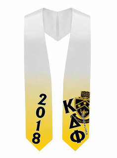 Kappa Delta Phi Super Crest - Shield Graduation Stole
