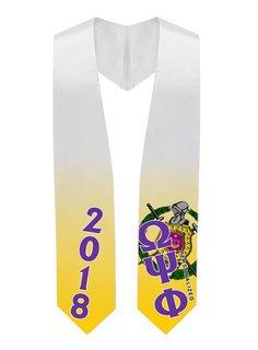 Omega Psi Phi Super Crest - Shield Graduation Stole