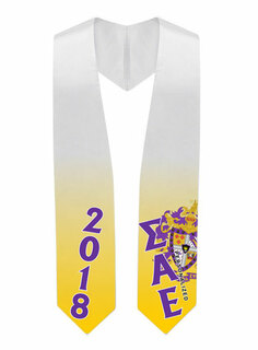 Sigma Alpha Epsilon Super Crest - Shield Graduation Stole