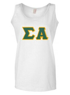 DISCOUNT-Sigma Alpha Lettered Ladies Tank Top