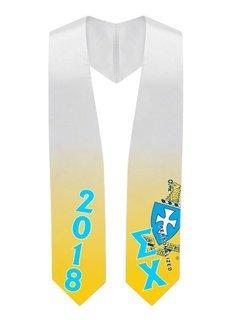 Sigma Chi Super Crest - Shield Graduation Stole
