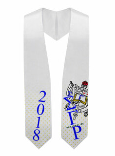 Sigma Gamma Rho Super Crest - Shield Graduation Stole