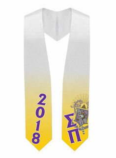 Sigma Pi Super Crest - Shield Graduation Stole