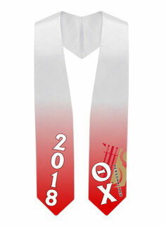 Theta Chi Super Crest - Shield Graduation Stole