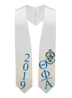 Theta Phi Alpha Super Crest - Shield Graduation Stole