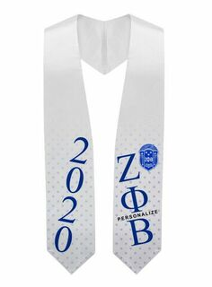 Zeta Phi Beta Super Crest - Shield Graduation Stole