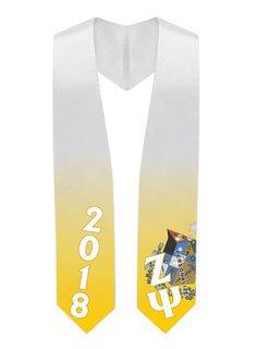 Zeta Psi Super Crest - Shield Graduation Stole