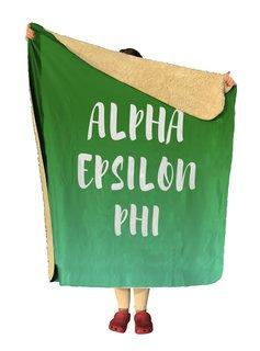 Alpha Epsilon Phi Gradient Sherpa Lap Blanket