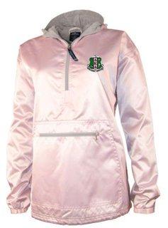Alpha Kappa Alpha Satin Pink Anorak Pullover