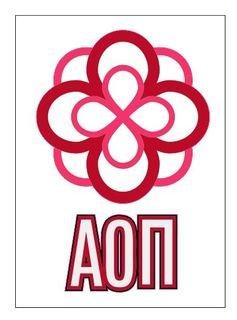 Alpha Omicron Pi Rose Decals