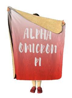 Alpha Omicron Pi Gradient Sherpa Lap Blanket