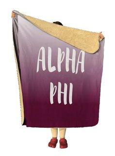 Alpha Phi Gradient Sherpa Lap Blanket