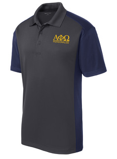 Alpha Phi Omega- $30 World Famous Greek Colorblock Wicking Polo